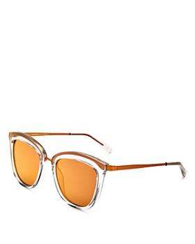 Le Specs - Women's Caliente Mirrored Cat Eye Sunglasses, 53mm