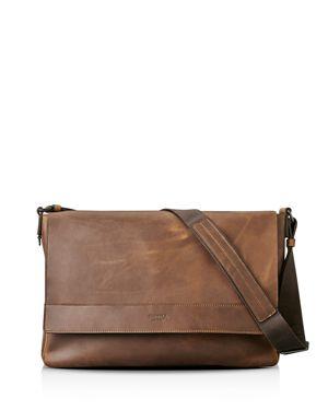 Shinola Distressed Messenger Bag