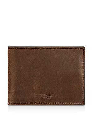 Shinola Distressed Slim Bifold Wallet-Men