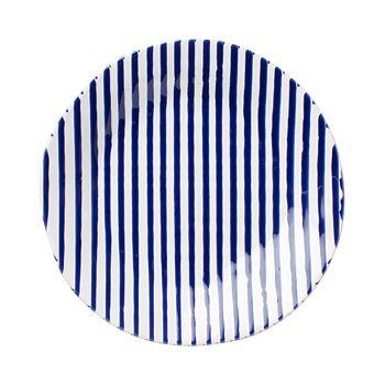 VIETRI - Net & Stripe Stripe Dinner Plate