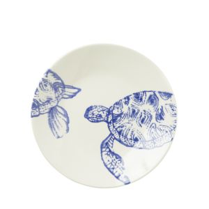 Vietri Costiera Blue Turtle Salad Plate