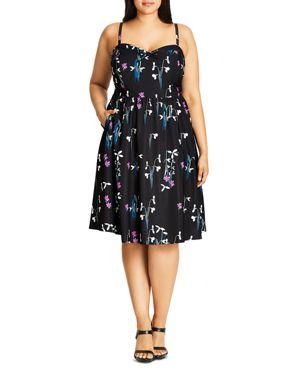 City Chic Specimen Floral Print Dress