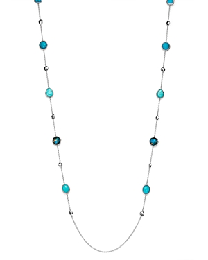 Ippolita Sterling Silver Rock Candy Turquoise Doublet, Amazonite Doublet and Mixed Turquoise Station