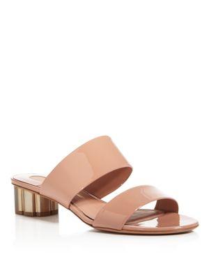 Salvatore Ferragamo Women's Belluno Floral Heel Suede Slide Sandals 3079035