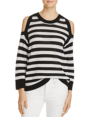 rag & bone/Jean Tracey Stripe Cold Shoulder Sweater