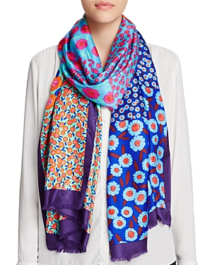 kate spade new york Tangier Floral Silk Oblong Scarf