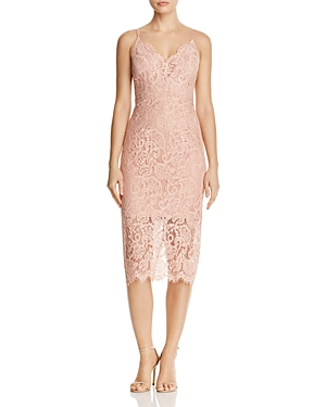 Bardot Midi Lace Dress