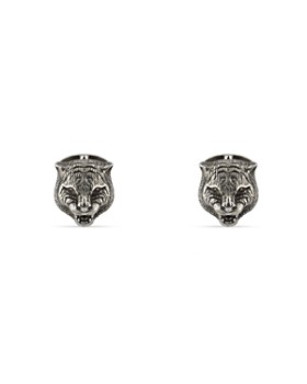 Gucci - Sterling Silver Gucci Garden Lion Head Cufflinks