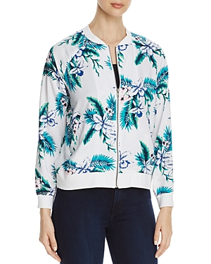 cupcakes and cashmere Anjelica Floral Bomber Jacket