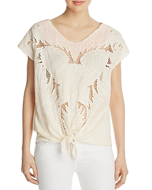 Free People Castaway Cutout Top