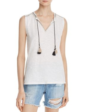 Soft Joie Sayuki Embroidered Sleeveless Top