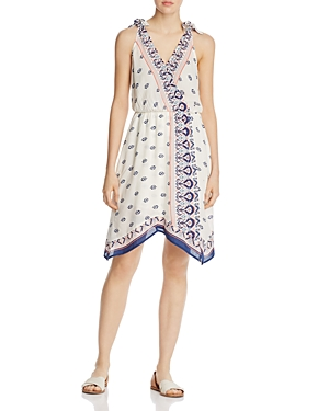 Ella Moss Printed Faux-Wrap Dress