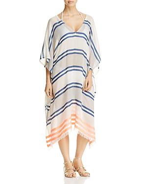 Echo Mambo Stripe Caftan Swim Cover-Up