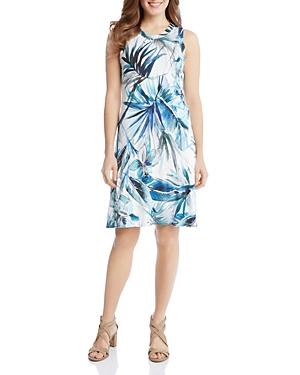 Karen Kane Sleeveless Tropical Print Swing Dress