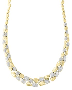 Bloomingdale's - Diamond Pebble Necklace in 14k Yellow Gold, 1.70 ct. t.w. - 100% Exclusive
