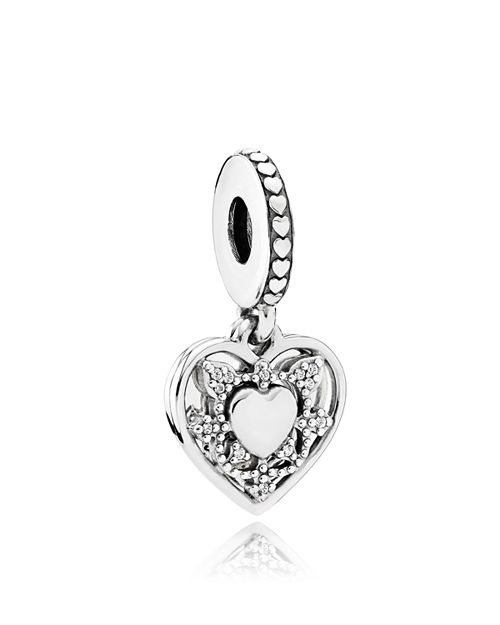 PANDORA - Sterling Silver & Cubic Zirconia My Wife Always Charm