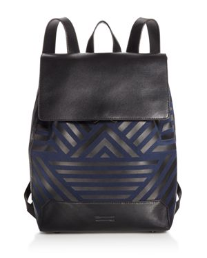 Uri Minkoff Geo Twill Drawstring Backpack