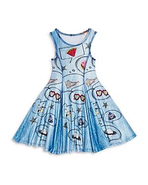 Terez Girls' All Day I Dream Denim Look Dress - Little Kid