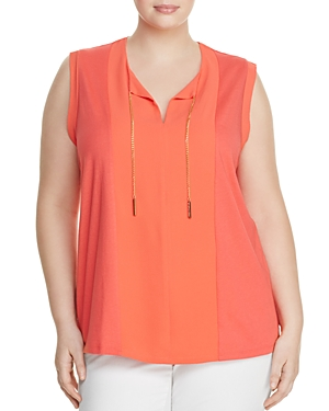 Michael Michael Kors Plus Color Block Chain Tank