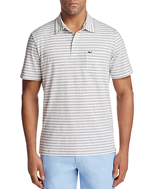 Vineyard Vines Pinstripe Jersey Regular Fit Polo Shirt