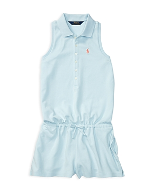 Ralph Lauren Childrenswear Girls' Polo Romper - Big Kid