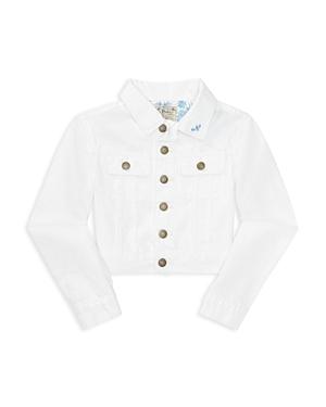 Ralph Lauren Childrenswear Girls' Embroidered Denim Jacket - Big Kid