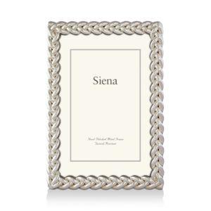 Siena Silver Braid Frame, 4 x 6