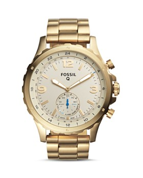 Fossil - Q Nate Hybrid Stainless Steel Smartwatch, 50mm