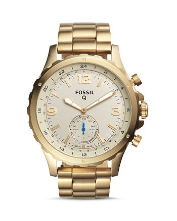 Fossil - Nate Hybrid Stainless Steel Smartwatch, 50mm