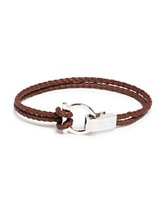 Salvatore Ferragamo Braided Double Wrap Bracelet With Gancio Closure Bloomingdale S 0