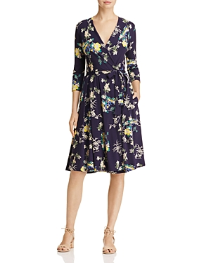 Weekend Max Mara Dacia Floral Print Wrap Dress