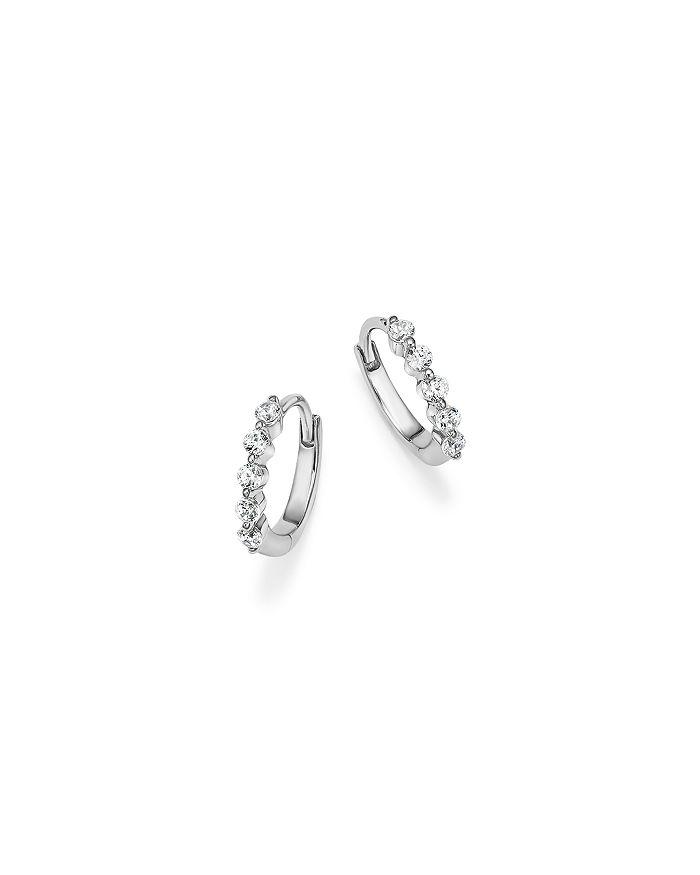 Bloomingdale's - Diamond Mini Hoop Earrings in 14K White Gold, .25 ct. t.w. - 100% Exclusive