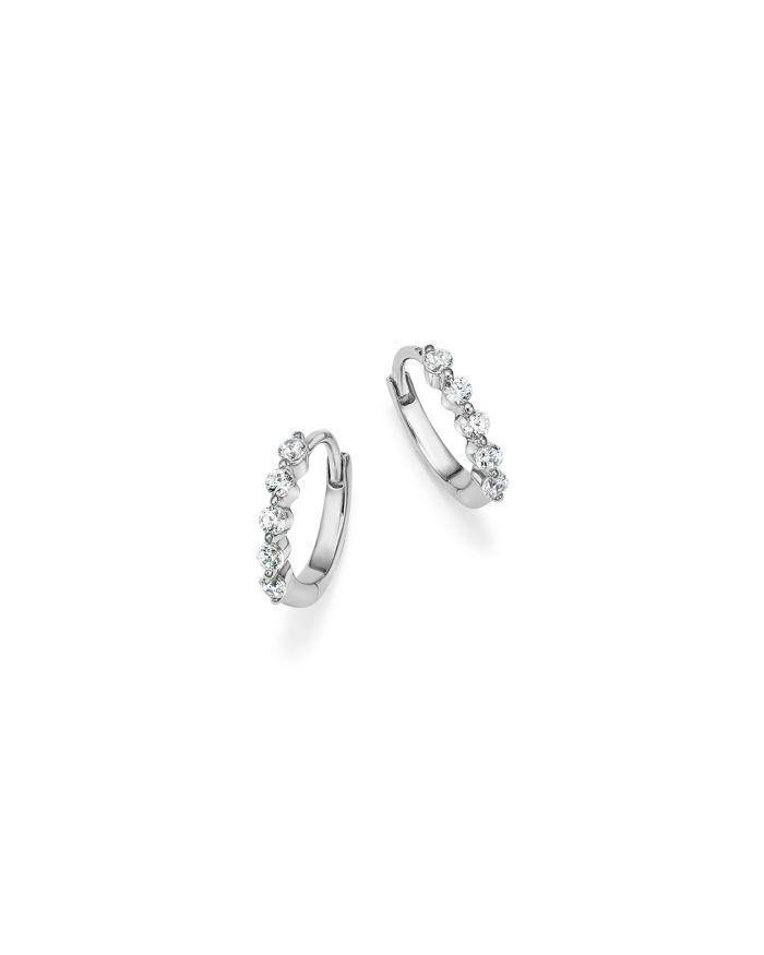 Bloomingdale's Diamond Mini Hoop Earrings in 14K White Gold, .25 ct. t.w. - 100% Exclusive   | Bloomingdale's