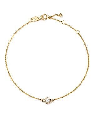 Diamond Bezel Set Bracelet in 14K Yellow Gold, .15 ct. t.w. - 100% Exclusive