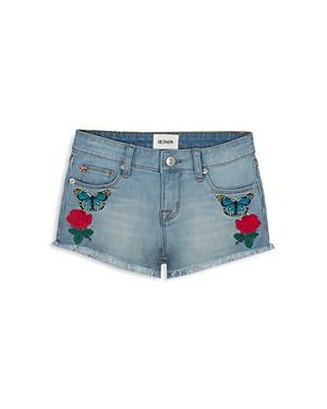 Hudson Girls' Embroidered Jean Shorts - Little Kid, Big Kid