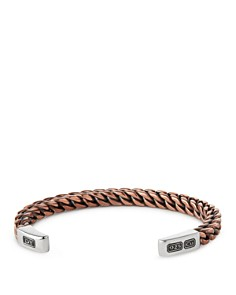 David Yurman Men's Woven Cuff Bracelet with Copper and Sterling Silver - Bloomingdale's_0