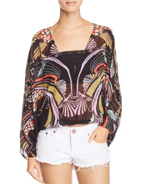 Free People Beneath The Sea Butterfly Top