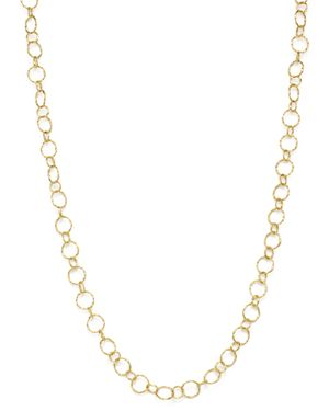 Armenta 18K Yellow Gold Sueno Long Circle Link Necklace, 35.5