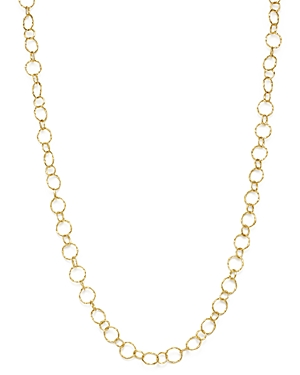 Armenta 18K Yellow Gold Sueno Long Circle Link Necklace, 35.5