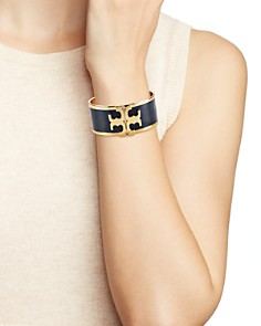 Tory Burch - Raised Logo Wide Cuff