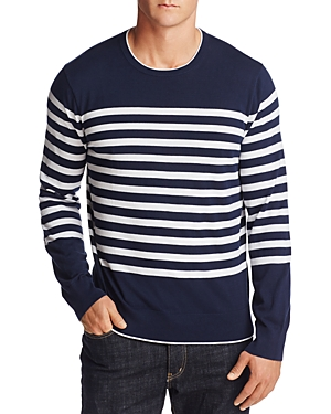 Michael Kors Engineered Stripe Cotton Sweater