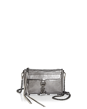 Rebecca Minkoff Mini Mac Metallic Leather Crossbody