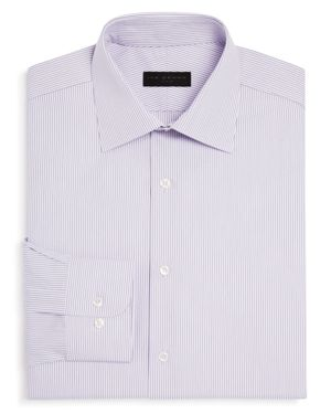 Ike Behar Dobby Stripe Regular Fit Dress Shirt