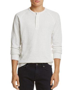 Vince Double-Knit Henley Shirt