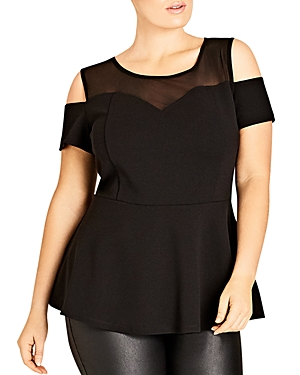 City Chic Martini Cold Shoulder Top