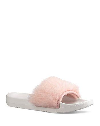 a143174aae1 UGG® Royale Shearling Pool Slide Sandals | Bloomingdale's