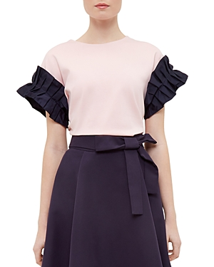 Ted Baker Cottoned On Ruffle-Sleeve Top