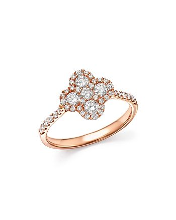 Bloomingdale's - Diamond Clover Ring in 14K Rose Gold, .75 ct. t.w. - 100% Exclusive
