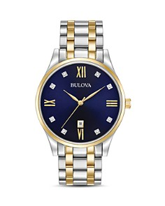 Bulova Two-Tone Diamonds Watch, 40mm - Bloomingdale's_0