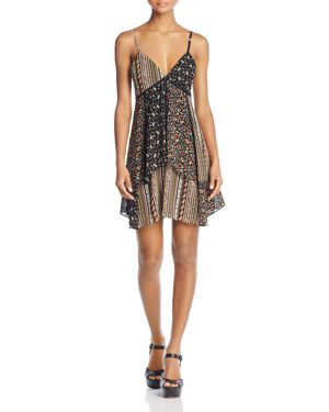 Alice + Olivia Delilah Tiered Stretch-Silk Dress